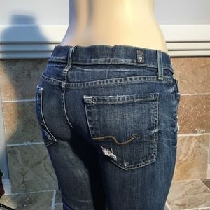 7 FOR ALL MANKIND JOSELINA SKINNY JEANS SZ 26